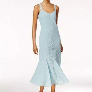 R&M Richards Sleeveless Beaded V-Neck Dress-18